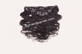 Clip In Hair Extension Hair Extension - Wavy